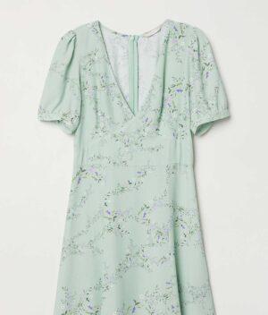 Crepe Dress Flat
