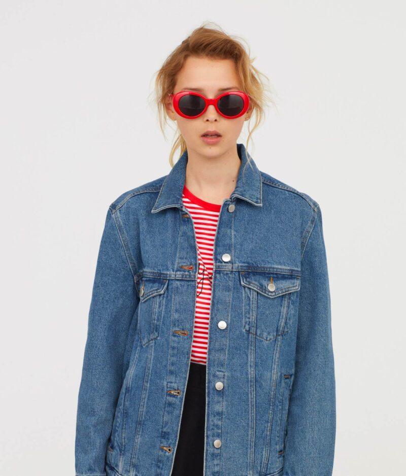 Denim jacket front